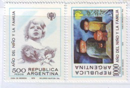 Argentina 1979 International Child Year IYC Children Family Art Paintings Organizations Stamps SC 1259-1260 Mi 1427-1428 - Argentine