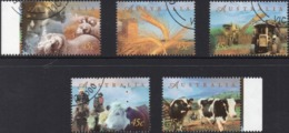 1983 AUSTRALIA Mint Not Hinged FARM Set Of 4 Stamps , But CANCELLED-TO-ORDER,  As Seen Here Includes MOTORCYCLE - 1990-99 Elizabeth II