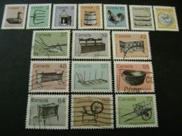 Canada 1982-1987 Heritage Artifacts Complete Definitive Set (SG 1054-1069) - Used - 1952-.... Reign Of Elizabeth II