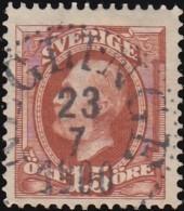 SWEDEN - Scott #59 King Oscar II (*) / Used Stamp - Oblitérés