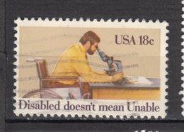 USA, Handicaps, Handicapé, Handicapped, Microscope, Fauteuil Roulant, Wheelchair - Handicaps