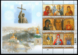 2016Ukraine 1592KLMy Stamps. Saint Nicholas The Wonderworker - Christianity