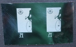 #67 - KPI-362-Cycling At The 1962 Asian Games. 15r. Pair 2. Asian Games Jakarta, Piece Of Printing Plate! Rare!! - Indonesien