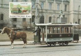 FINLAND 1988 EUROPA XXII: Transport & Communication: Maximum Card CANCELLED - Maximum Cards & Covers