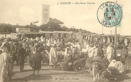"""CPA MAROC """" Tanger, Marché Au Charbon"""" - Tanger"""