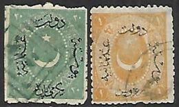 Turkey   1874    Sc#39-40   Used  2016 Scott Value $35 - Used Stamps