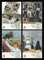 FINLAND 1994 FINLANDIA 95: European Athletics Championships: Set Of 4 Maximum Cards CANCELLED - Maximum Cards & Covers