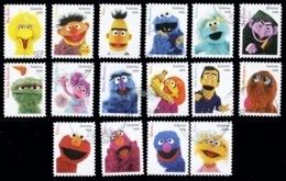 Etats-Unis / United States (Scott No.5394a-p - SESAME STREET CHILDREN'S) (o) Set TB / VF - Used Stamps