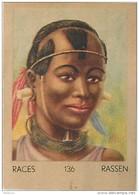 J1   AFRIQUE  17/136 .FEMME. .MASSAI   ETHIOPIE  *** ETHNOGRAPHIE  ETHNOLOGIE étude Au Dos ( 5x7 Cm) - Vieux Papiers