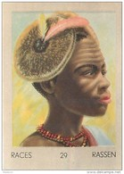 J1   AFRIQUE  19/29   .FEMME..CHILLOUK  SOUDAN   *  RACES  ETHNOGRAPHIE  ETHNOLOGIE étude Au Dos ( 5x7 Cm) - Vieux Papiers