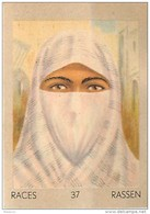 J1   AFRIQUE   32/37 ..FEMME  ALGERIENNE  ALGERIE   *  RACES  ETHNOGRAPHIE  ETHNOLOGIE étude Au Dos ( 5x7 Cm) - Vieux Papiers
