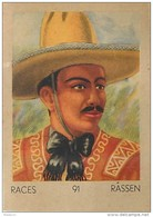 J1   AMERIQUE  SUD   41/91...MEXIQUE  MEXICAIN ..*  RACES  ETHNOGRAPHIE  ETHNOLOGIE étude Au Dos ( 5x7 Cm) - Vieux Papiers