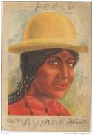 J1 .  PEROU  62/76  FEMME  AYMARA    .** RACE  ETHNOGRAPHIE  ETHNOLOGIE étude Au Dos ( 5x7 Cm) - Vieux Papiers