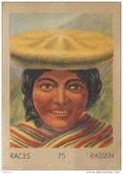 J1 .  PEROU  63/75  FEMME  INCA    .** RACE  ETHNOGRAPHIE  ETHNOLOGIE étude Au Dos ( 5x7 Cm) - Vieux Papiers