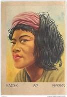 J1     INDOCHINE   94/89   FEMME  KHA .ASIE  ** RACE  ETHNOGRAPHIE  ETHNOLOGIE étude Au Dos ( 5x7 Cm) - Vieux Papiers