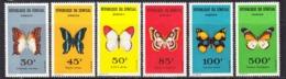 1963 Senegal Butterflies Papillons Complete Set Of 6  MNH - Senegal (1960-...)