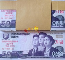 Korea 70th Anniversary Commemorative 2018 50won 100pcs UNC - Korea, Noord