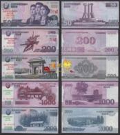 Korea 70th Anniversary Commemorative 2018 50 200 500 1000 2000won 5pcs UNC - Korea, Noord