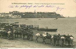 WW 2 X Maroc. RABAT SAFI. Passage Du Bou-Regreg Par Section De Montagne Et Débarquement Des Troupes Par Le Wharf 1913 - Rabat