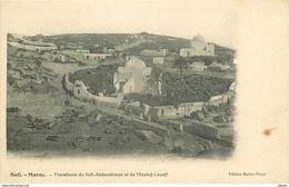 WW 2 X Maroc. SAFI. Marabouts De Sidi-Abderahman Mouley-Louafi Et La Population Attendant Débarquement Des Troupes 1913 - Otros