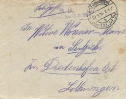 1915- Cover From A German Soldier K.D. Feldpostexp / Der121.Jmf.DIV. To Diedenhofen ( Lothringen - Deutschland