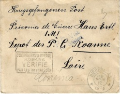 1917- Cover From Riedenburg To A W P  At Roanne ( France ) - Deutschland