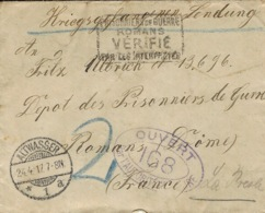1917- Cover From ALTWASSER To A W P  At Romans ( France ) - Deutschland