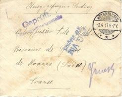 1917- Cover From HÖTENSLEBEN To A W P  At Roanne ( France ) - Deutschland