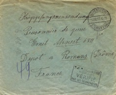 1916- Cover From HOHENSTEIN / ERNSTTHAL  To A W P  At Romans ( France ) - Deutschland