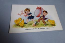 BELLE ILLUSTRATION .....JOYEUSES PAQUES...SIGNE JIM PATT - Autres Illustrateurs