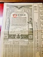 DETTE  PUBLIQUE  De  La  ROUMANIE ----- Titre  De  500 Francs  OR - Acciones & Títulos