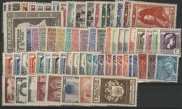 1944 ANNEE COMPLETE ** (MNH). Cote 105 €. N° 599 à 668 Soit 70 Timbres. TB. - Frankreich