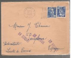 23204 - Pour POSTE RESTANTE En ESPAGNE - Marcophilie (Lettres)