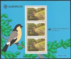 1986 Portugal (Azores) Europa: Nature Conservation Minisheet (** / MNH / UMM) - 1986
