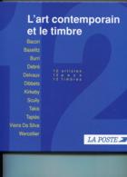 France-1992 à 1996- L'art Contemporain Et Le Timbre -Livre**-12 Artistes, 12 Pays Avec 12 Beaux Timbres Neufs - Postdokumente