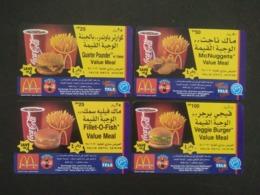 Qatar Telephone Card 4 Different Mint Unused Not Scratched McDonald's - Qatar
