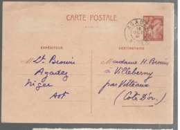 23212 - Entier  Cad  NIGER - Poststempel (Briefe)