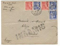 23221 - Pour L'ESPAGNE - INADMIS - Postmark Collection (Covers)