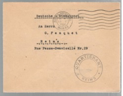 23234 - QUARTIERAMT REIMS - Marcofilia (sobres)