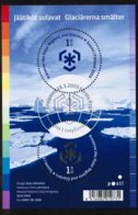 2009 Finland Melting Glaciers, Miniature Sheet FD Stamped. - Finland