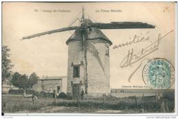 51  Camp De Chalons - Le VIEUX MOULIN  ( CAFE Des AMIS ,M Guérin Md  De VIN ) - Windmühlen