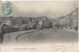Carte Postale Ancienne De Valenciennes La Route D'Anzin - Valenciennes