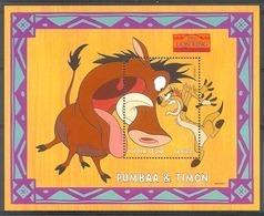 Nfe053 WALT DISNEY LION KING ZOOGDIEREN WILD ZWIJN PUMBAA & TIMON WILD PIG MAMMALS SIERRA LEONE 1998 ONG/MH - Disney