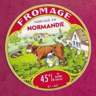 ETIQUETTE De FROMAGE..FROMAGE Fabriqué En NORMANDIE..Jean VARDON à ATHIS (Orne 61)..2 Scans - Fromage