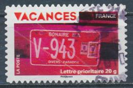 France - Vacances 2009 - Plaque Immatriculation YT A323 Obl. Cachet Rond - Adhésifs (autocollants)