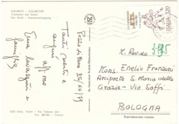 1979 £120 CAMPIONATO EUROPEO PALLACANESTRO MASCHILE SU CARTOLINA DOLOMITI - Basketball