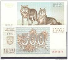 1993. Lithuania, 500 Talons, P-46, UNC - Lituania