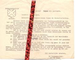 Brief Gemeente Aalter - Bericht Bevolking - Inenting , Vaccinatie Polio , Kinderverlamming - Old Paper