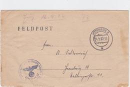 German Feldpost WW2: Flakwaffenwerkstatt 5/XVII In Pilsen (Plzen In Cechy Republika) P/m Deutsche Reichpost - Militares