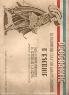 PROGRAMME TOURNOI D'ESCRIME DES TROUPES D'OCCUPATION EN ALLEMAGNE - BADEN BADEN - 1946 - Escrime